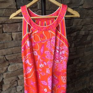 Gretchen Scott Like New Pink & Orange Dress